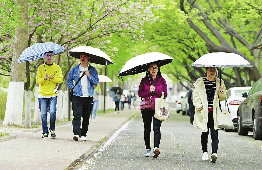 细雨润泉城