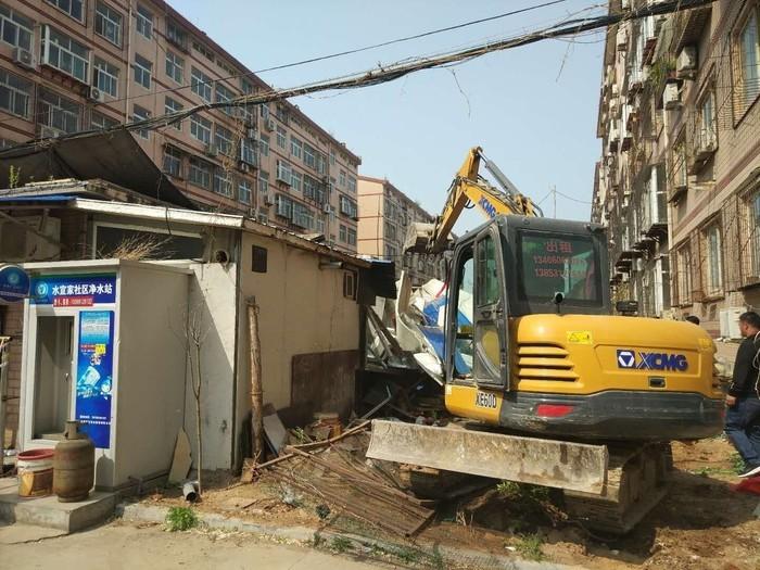 拆違進行時!濟南市中白馬山300余平方米違章搭建被拆除