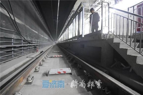 济南轨交R3线换乘站礼耕路站站台初露雏形