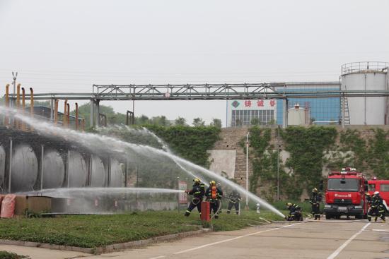 平阴县开展2019年危险化学品泄漏事故综合应急演练