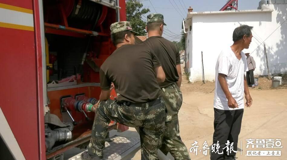 山东多地用水告急!消防队伍协助有关部门全力抗旱