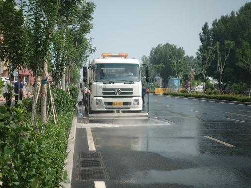 """济南""""行走城管""""开展道路保洁工作恳谈观摩活动"""