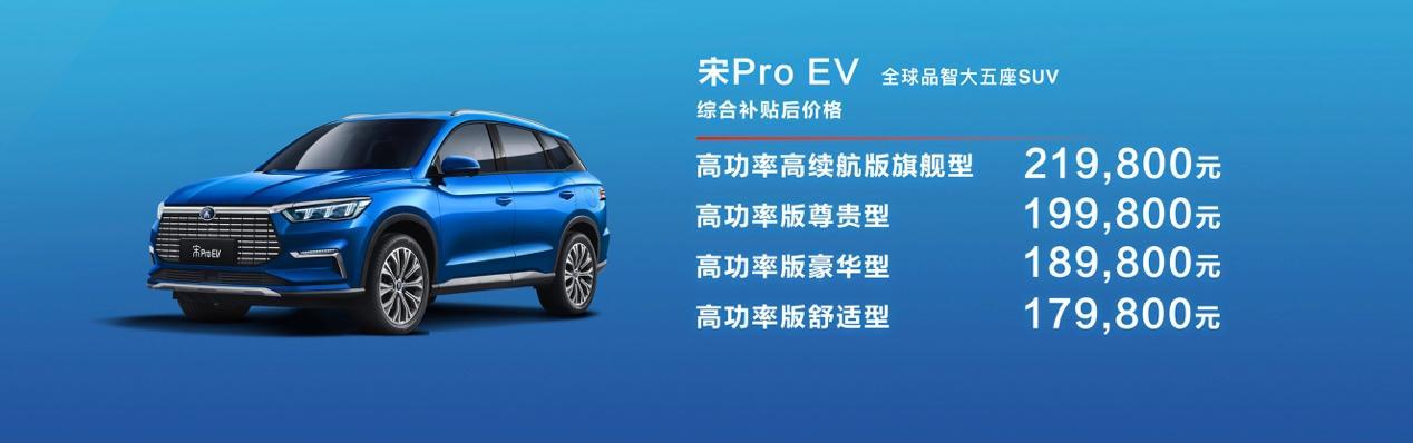 充电15分钟续航100公里!宋Pro EV售17.98万元起